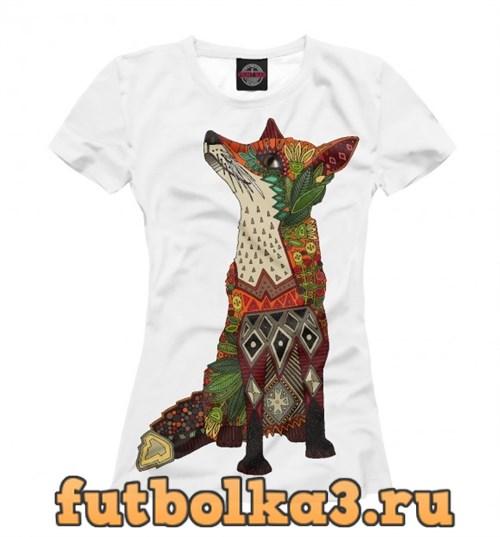 Футболка Floral fox женская
