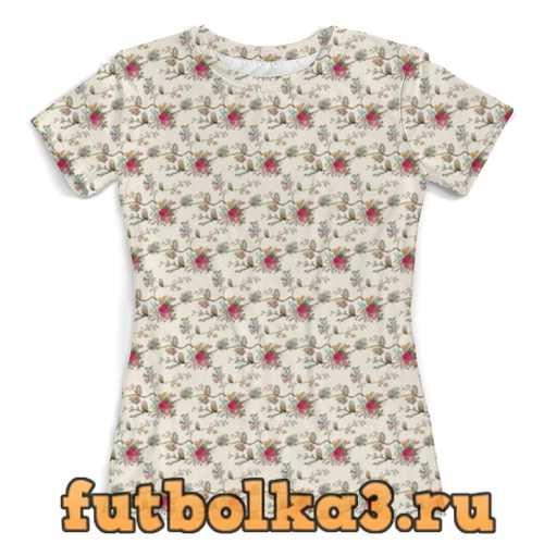 Футболка Floral owl женская