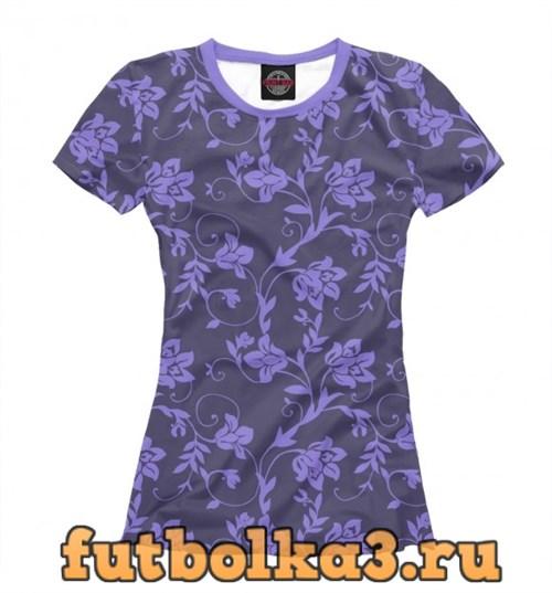Футболка Floral (Purple) женская