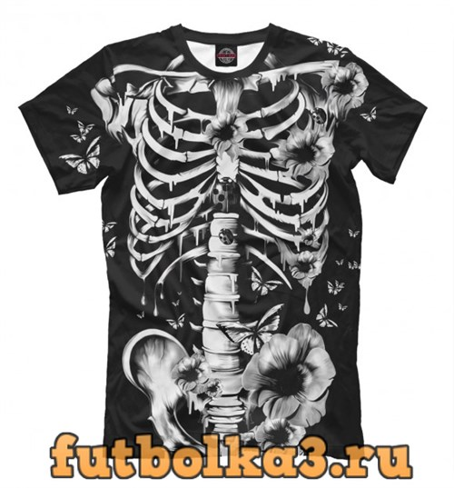 Футболка Floral Skeleton мужская