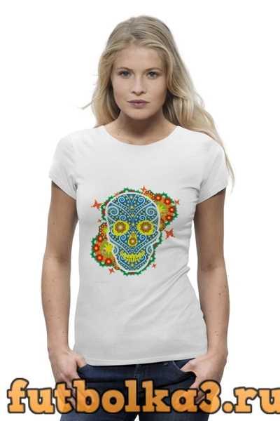 Футболка Floral Skull женская