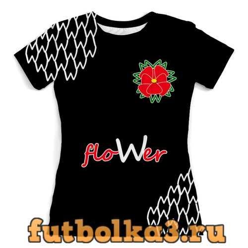 Футболка floWer женская