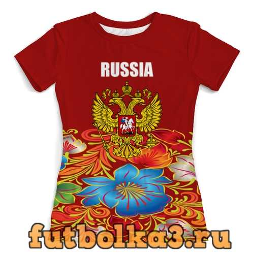 Футболка Герб РФ женская