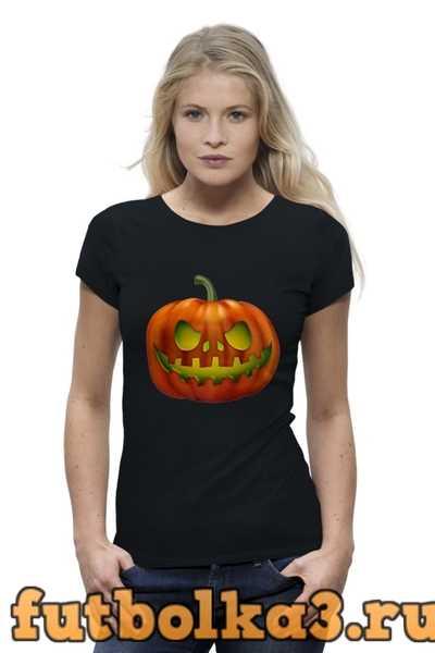 Футболка glowing pumpkin женская