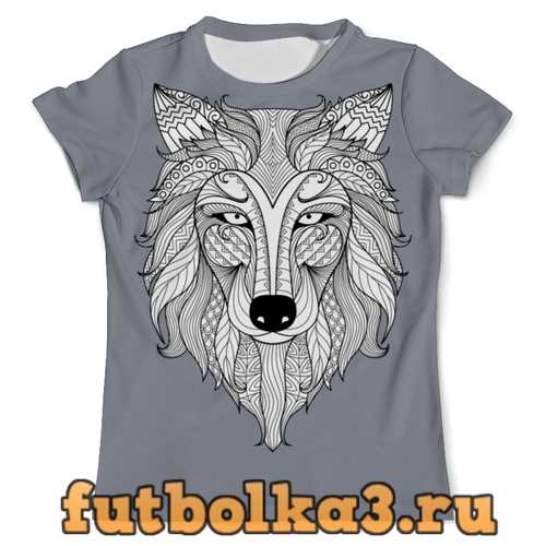 Футболка Голова волка мужская