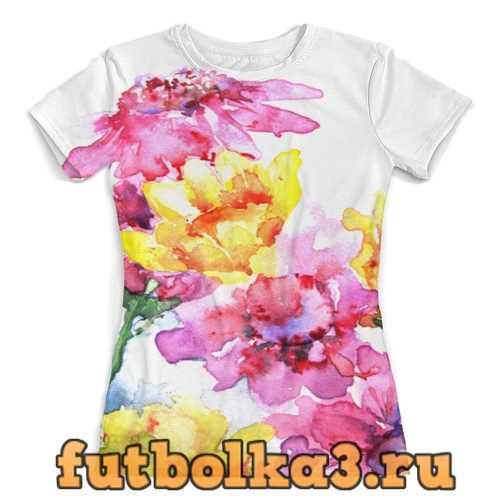 Футболка Хризантемы женская