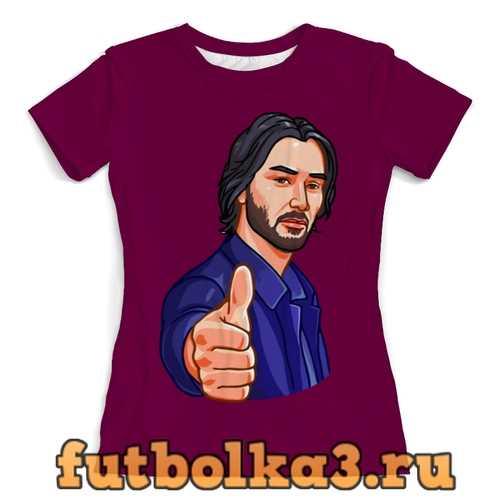Футболка Киану Ривз женская