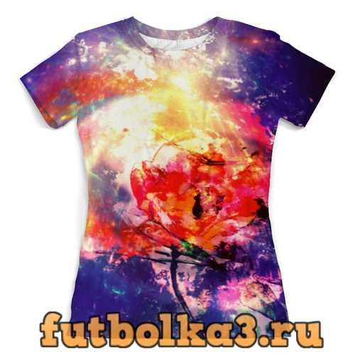 Футболка Космический тюльпан женская