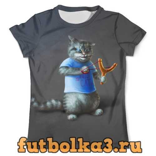 Футболка Котик хулиган мужская