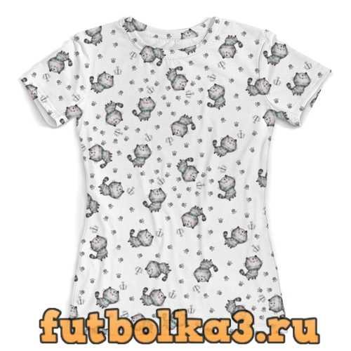 Футболка Котята женская