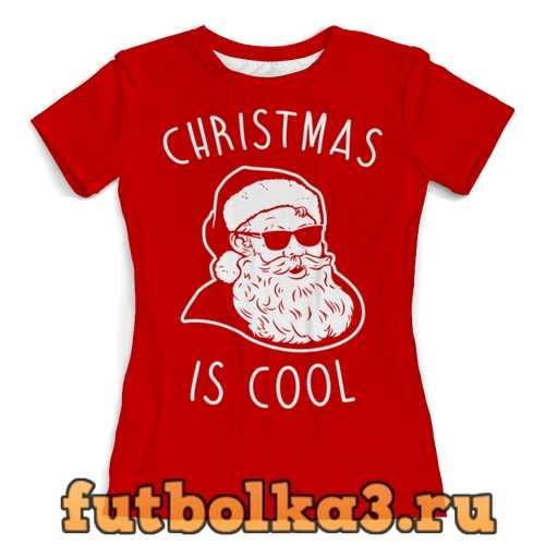 Футболка Крутой Дед Мороз женская