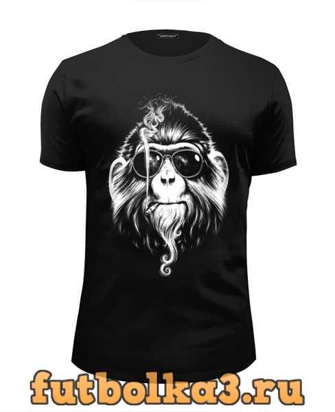 Футболка Курящая горилла мужская