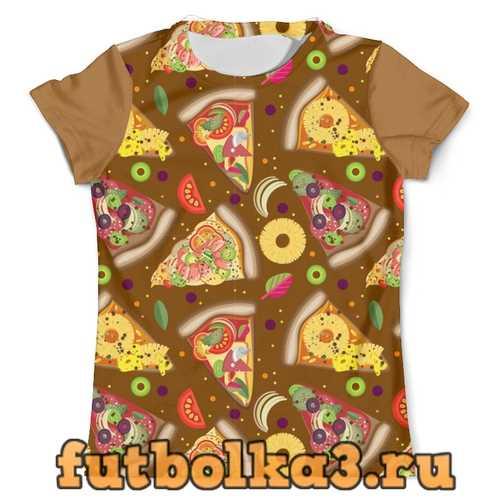 Футболка Куски разной пиццы мужская