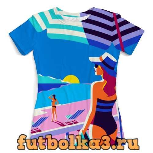 Футболка Летний пейзаж женская