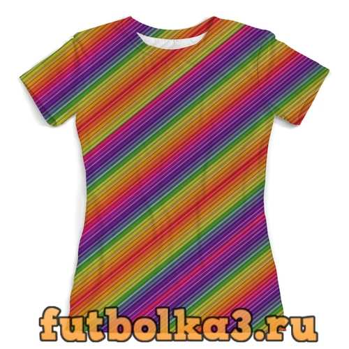 Футболка Линии радуги женская