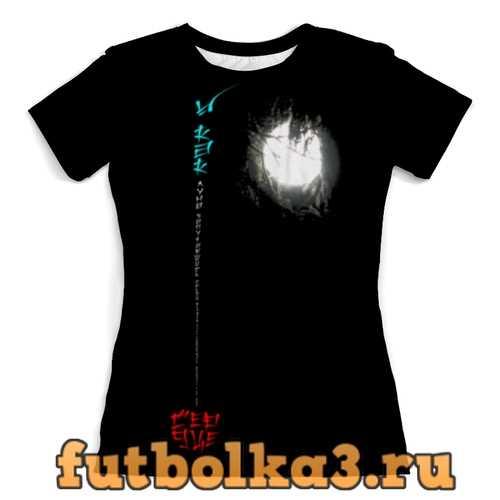Футболка Луна в ветвях № 1. Китай женская