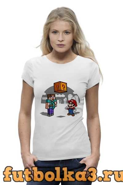 Футболка Майнкрафт & Супер Марио женская