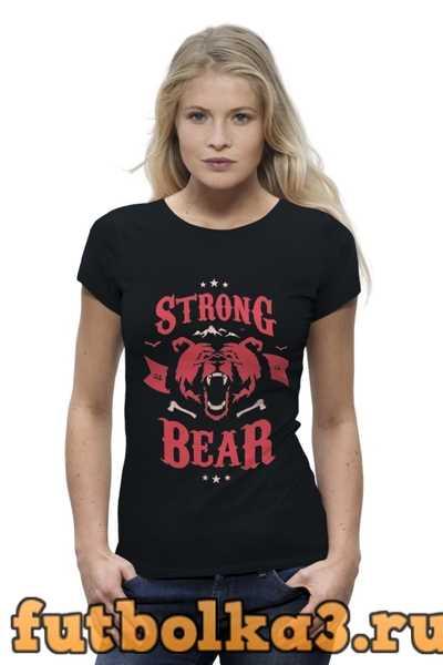 Футболка Медведь женская
