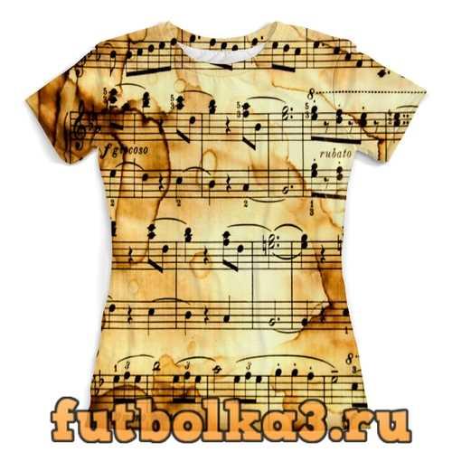 Футболка Мелодия женская