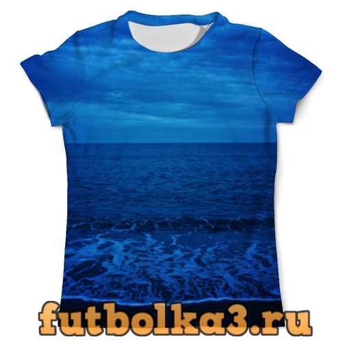 Футболка Море ночью мужская