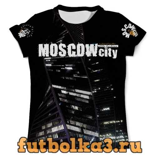 Футболка Moscow-city style, elite fashion мужская