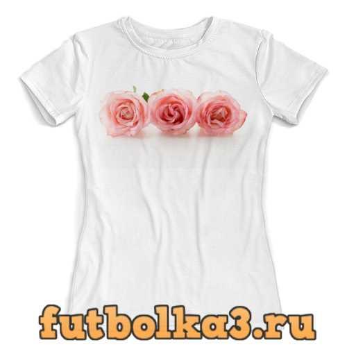 Футболка Нежные розы женская