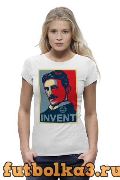 Футболка Никола Тесла, в стиле Obey женская