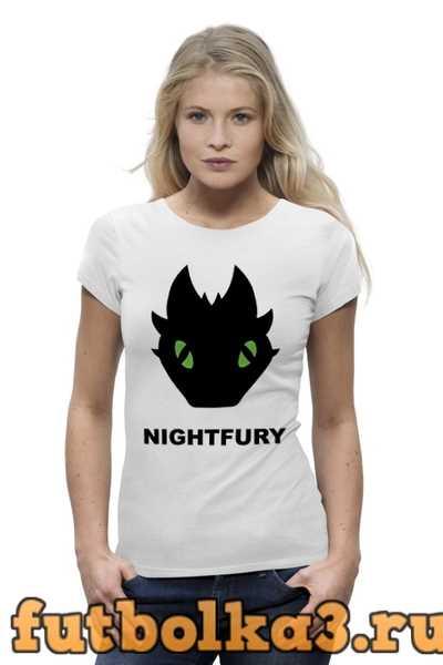 Футболка Ночная Фурия (Night Fury) женская