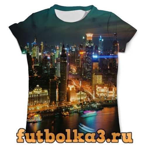 Футболка Ночной город мужская