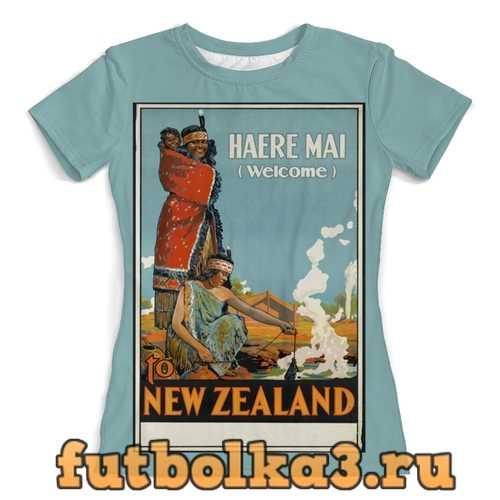 Футболка Новая Зеландия женская