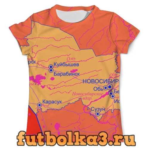 Футболка Новосибирская область. Новосибирск мужская