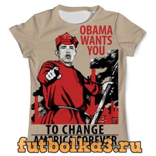 Футболка Obama Red Army мужская