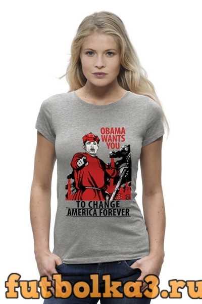 Футболка Obama Red Army женская