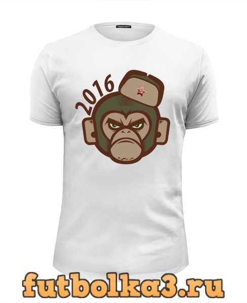 Футболка Обезьяна - символ нового 2016 года. мужская