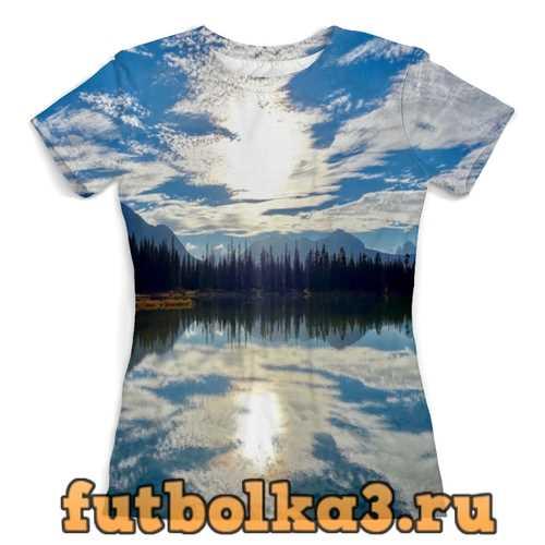 Футболка Облака над горами женская