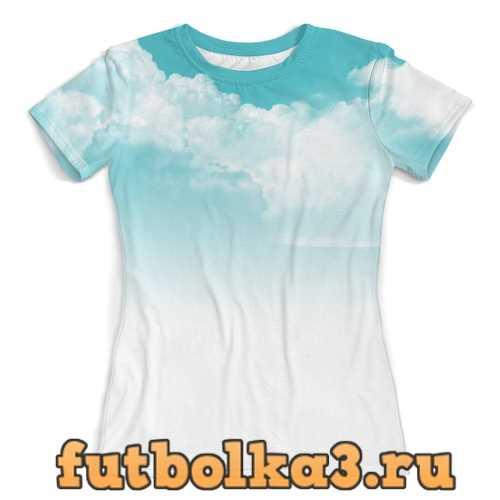 Футболка Облака женская