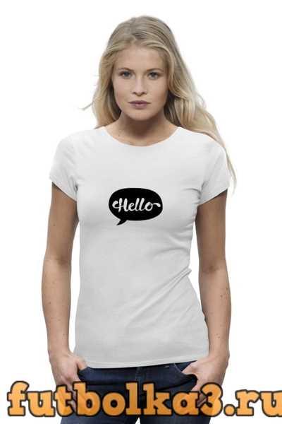 Футболка Облако мыслей - Hello женская