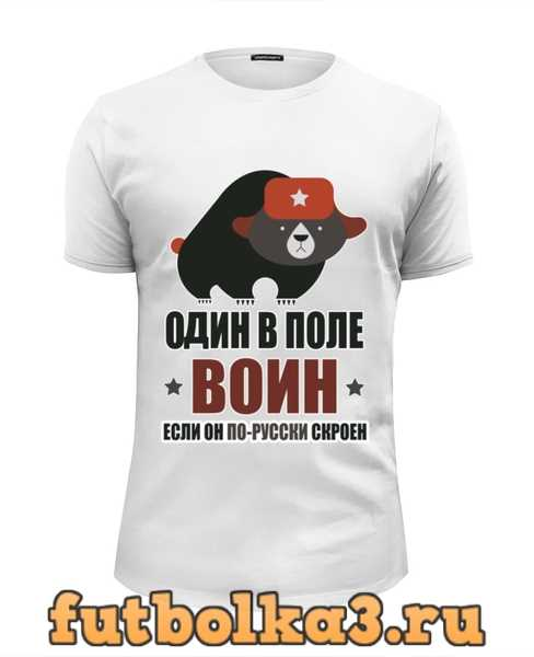 Футболка Один в поле воин, если он по-русски скроен мужская