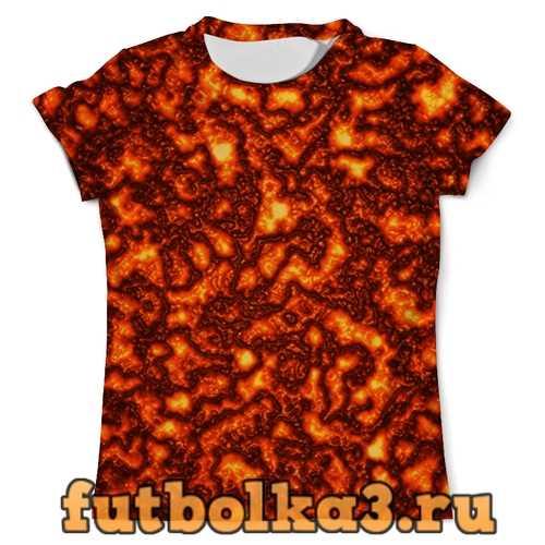 Футболка Огненная лава мужская