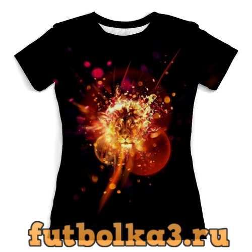 Футболка Огненный лев женская