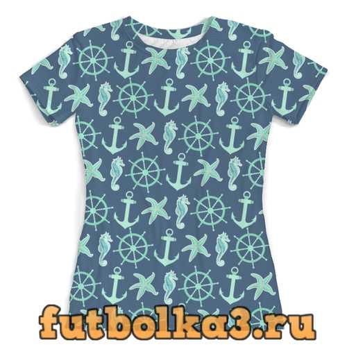 Футболка океан женская