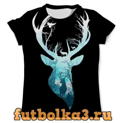 Футболка Олень в лесу мужская