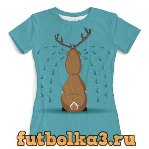 Футболка олень женская