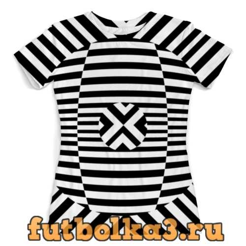 Футболка оптическая иллюзия женская