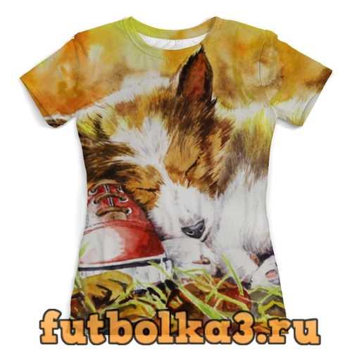 Футболка Осенний пёс женская