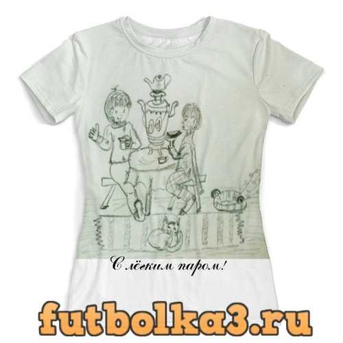 Футболка Отдых. Баня. Чай. женская