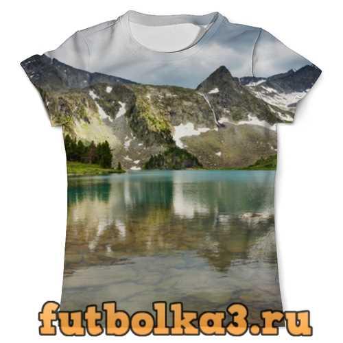 Футболка Озеро в горах мужская