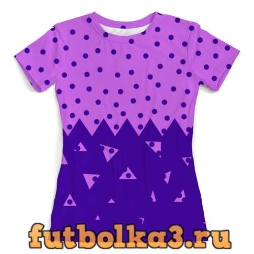 Футболка Падающие треугольники женская