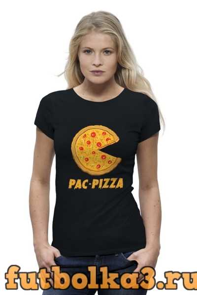 Футболка Пак-Пицца женская