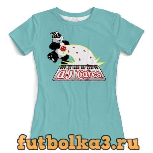 Футболка Панда диджей женская